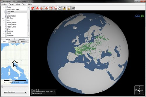 Openstreetmap globe webstart en with xnavigator you can explore the virtual 3d model of the world the software contains many features that were developed within the project gdi 3d gumiabroncs Images